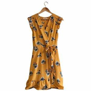 Monteau | Floral Faux Wrap Dress | S